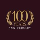 100 anos de logotipo real de comemoração velho Fotografia de Stock