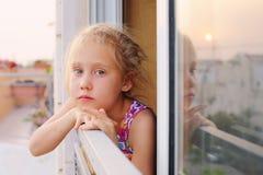 6 anos de menina idosa Fotos de Stock Royalty Free