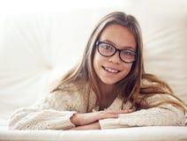 8 anos de menina idosa Fotos de Stock Royalty Free