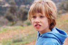 6 anos de menino idoso Fotografia de Stock Royalty Free