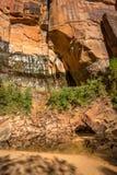 1000 anos de rochas velhas no Chile Foto de Stock Royalty Free