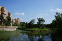 5000 anos de ruínas velhas da cidade de China Fotos de Stock