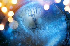 Anos de véspera novos felizes da arte 2017 Imagens de Stock Royalty Free