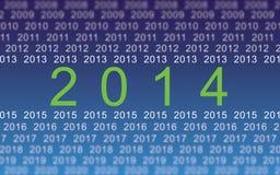2014 anos digitais ilustração stock