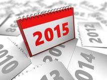 Anos do calendário Imagens de Stock Royalty Free