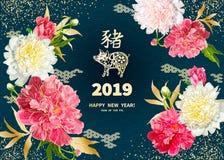 2019 anos do PORCO Imagens de Stock Royalty Free