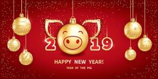 2019 anos do PORCO fotos de stock