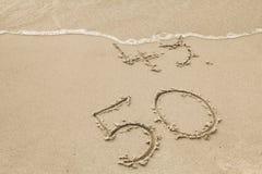 50 anos dourados Imagem de Stock