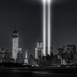 12 anos mais tarde… de tributo nas luzes, 9/11 Imagem de Stock