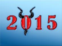 2015 anos na moda do olhar da cabra com chifres e cavanhaque Imagem de Stock