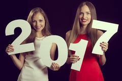 2017 anos novo bem-vindo Imagens de Stock