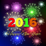 2016 anos novo feliz Fotos de Stock Royalty Free