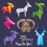 2015 anos novo feliz da cabra! Fotos de Stock