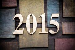 2015 anos novos Imagens de Stock Royalty Free