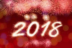 2018 anos novos Imagens de Stock Royalty Free