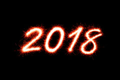 2018 anos novos Imagens de Stock
