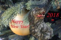2018 anos novos chineses do cão Foto de Stock