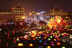 2019 anos novos chineses em Xian foto de stock royalty free