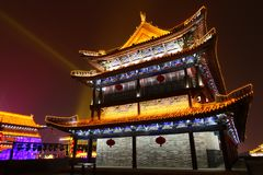 2019 anos novos chineses em Xian fotografia de stock