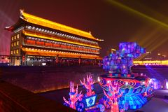 2019 anos novos chineses em Xian foto de stock