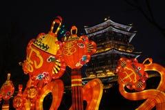 2019 anos novos chineses em Xian imagens de stock royalty free