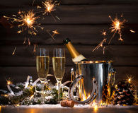 Anos novos da celebração Fotografia de Stock