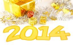 Anos novos da decoração 2014 Imagens de Stock Royalty Free