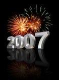 Anos novos da véspera 2007 imagens de stock