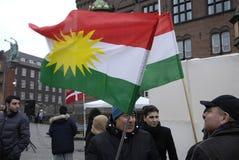 ANOS NOVOS DAY_KURDS DOS CURDOS EM DINAMARCA Fotografia de Stock
