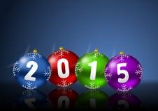 2015 anos novos de cartão Fotografia de Stock
