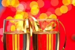 Anos novos de Champagne Foto de Stock