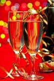 Anos novos de Champagne Fotos de Stock