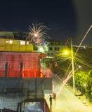 Anos novos de Eve Celebrations In Panajachel Guatemala Fotografia de Stock Royalty Free