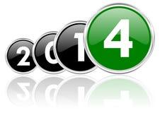 2014 anos novos de ilustração Imagens de Stock