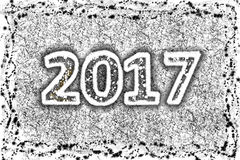 2017 anos novos de prata ilustração stock