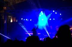 Anos novos do concerto da véspera no quadrado Fotografia de Stock