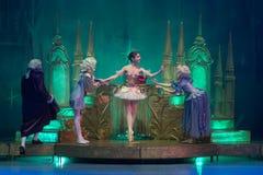 Anos novos do desempenho no centro cultural Foto de Stock Royalty Free