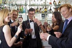 Anos novos do partido da véspera Foto de Stock Royalty Free
