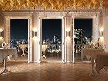 Anos novos do partido em um apartamento luxuoso rendição 3d Fotos de Stock Royalty Free