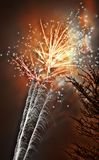 Anos novos dos fogos-de-artifício Fotos de Stock Royalty Free