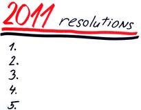 Anos novos dos resolutins Imagens de Stock Royalty Free