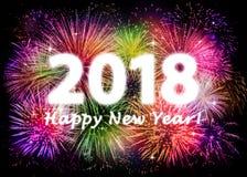 2018 anos novos felizes Fotos de Stock