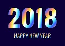 2018 anos novos felizes Fotos de Stock Royalty Free