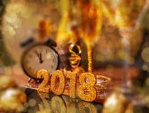 2018 anos novos felizes Fotografia de Stock