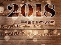 2018 anos novos felizes Imagens de Stock Royalty Free