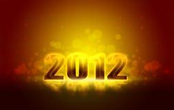 Anos novos felizes 2012 Ilustração do Vetor