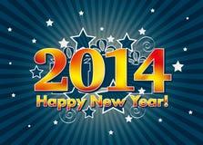 2014 anos novos felizes Fotografia de Stock Royalty Free