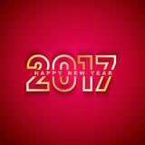 2017 anos novos felizes Fotos de Stock Royalty Free