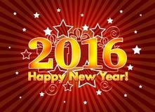 2016 anos novos felizes Imagens de Stock Royalty Free