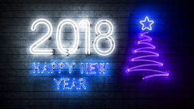 2018 anos novos felizes 2018 Foto de Stock Royalty Free